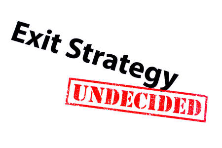 Exit Strategy heading with a red UNDECIDED rubber stamp.