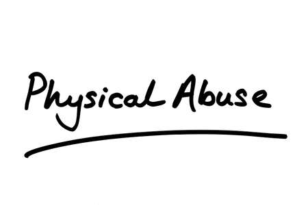 Physical Abuse handwritten on a white background.