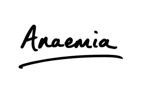 Anaemia handwritten on a white background.