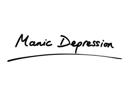 Manic Depression handwritten on a white background.
