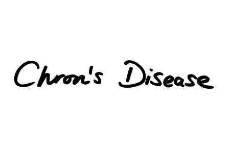 Chrons Disease handwritten on a white background. Standard-Bild