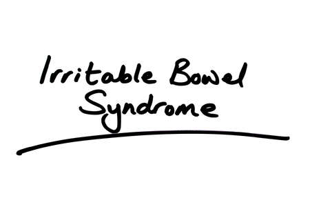 Irritable Bowel Syndrome handwritten on a white background.