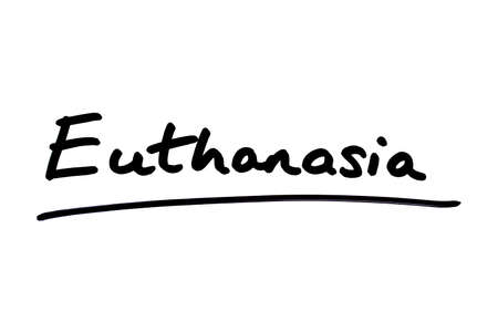 Euthanasia handwritten on a white background.