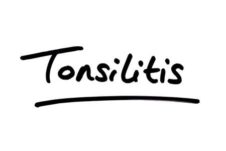 Tonsilitis handwritten on a white background.