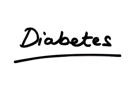 Diabetes handwritten on a white background.