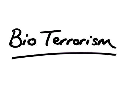 Bio Terrorism handwritten on a white background.