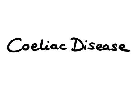 Coeliac Disease handwritten on a white background.