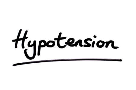 Hypotension handwritten on a white background.