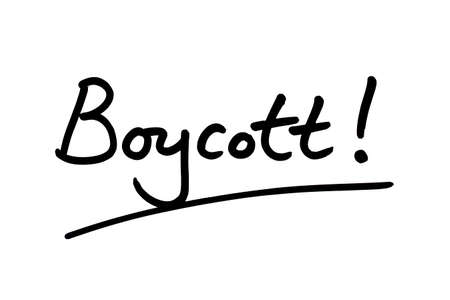 Boycott! handwritten on a white background.
