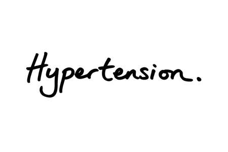 Hypertension handwritten on a white background.