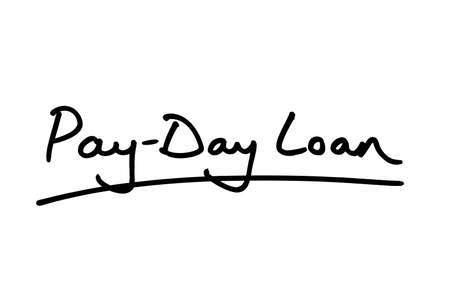 Pay-Day Loans handwritten on a white background.