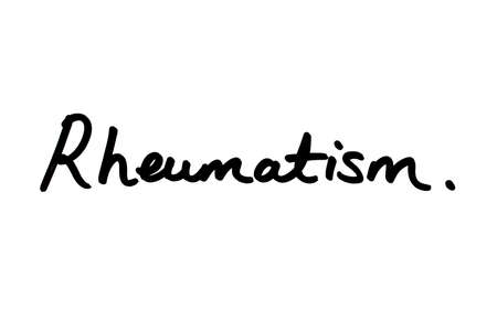 Rheumatism handwritten on a white background.