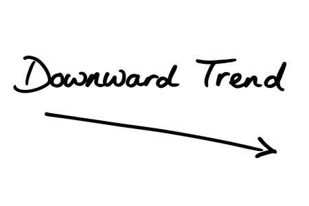 Downward Trend handwritten on a white background.