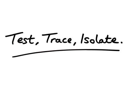 Test Trace Isolate handwritten on a white background.