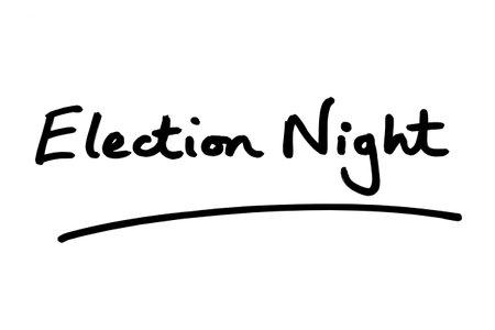 Election Night handwritten on a white background.