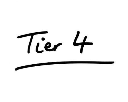 Tier 4 handwritten on a white background.