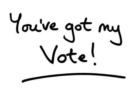 You've my Vote! handwritten on a white background.