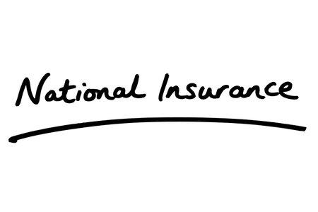 National Insurance handwritten on a white background.