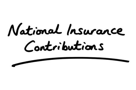 National Insurance Contributions handwritten on a white background.