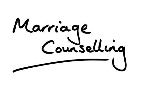 Marriage Counselling handwritten on a white background.