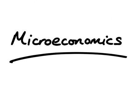 Microeconomics handwritten on a white background.
