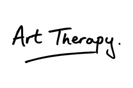 Art Therapy handwritten on a white background.
