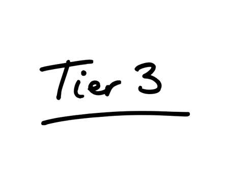 Tier 3 handwritten on a wite background.