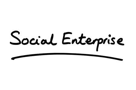 Social Enterprise handwritten on a white background.
