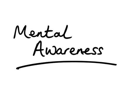 Mental Awareness handwritten on a white background.