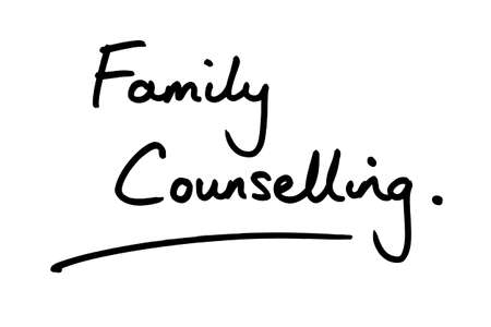 Family Counselling handwritten on a white background.