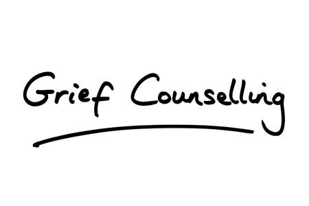Grief Counselling handwritten on a white background.