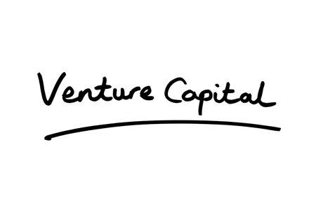 Venture Capital handwritten on a white background.