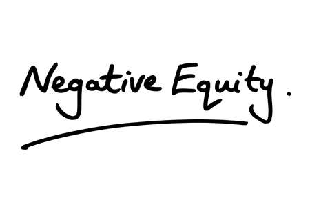 Negative Equity handwritten on a white background.