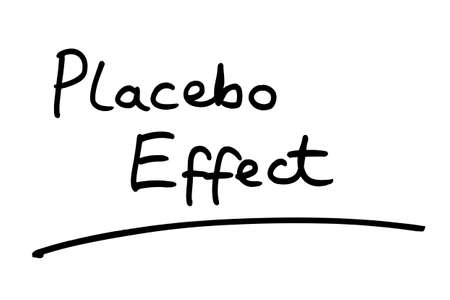 Placebo Effect handwritten on a white background.