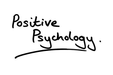 Positive Psychology handwritten on a white background.