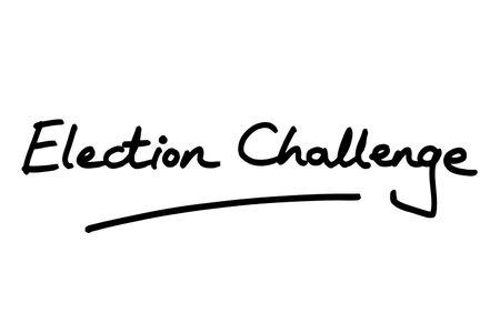 Election Challenge, handwritten on a white background.