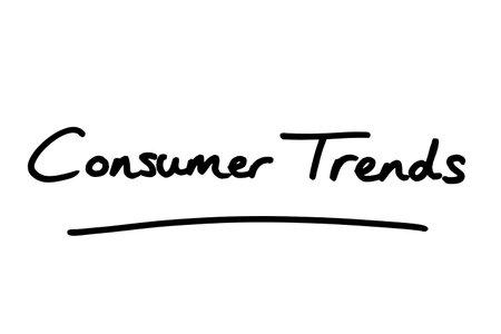 Consumer Trends, handwritten on a white background.
