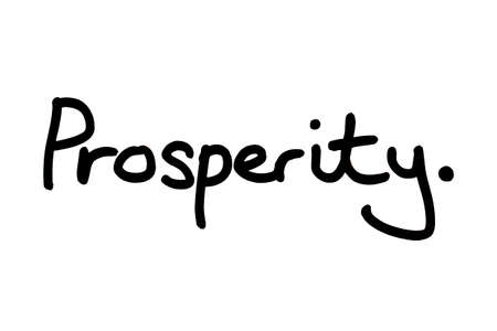 The word Prosperity, handwritten on a white background.