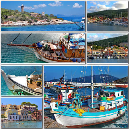 travel to greece collage photo