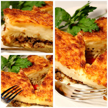 Collage Of Traditional Ethnik Food Pastitsio  photo