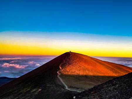 Cumbre de Mauna Kea en la isla grande de Hawái Foto de archivo