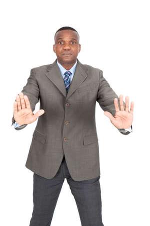Black businessman posing photo
