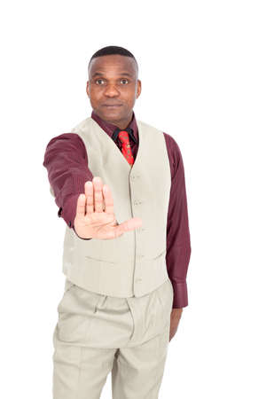 Black businessman posing photo