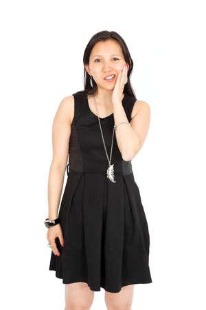Beautiful asian woman posing photo