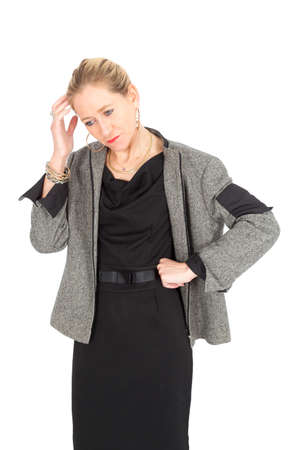 Beautiful businesswoman posing photo