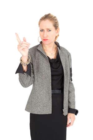 Beautiful businesswoman posing photo