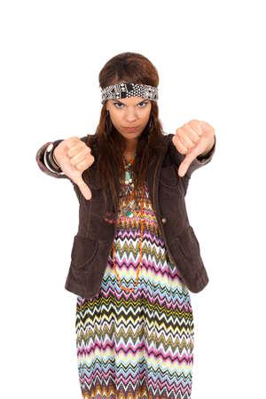 Beautiful hippie girl posing photo