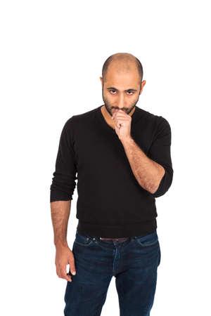 Young man posing photo