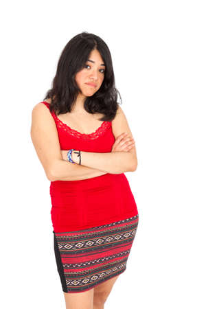 Beautiful Hispanic woman posing