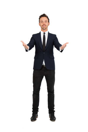 Young businessman posing photo
